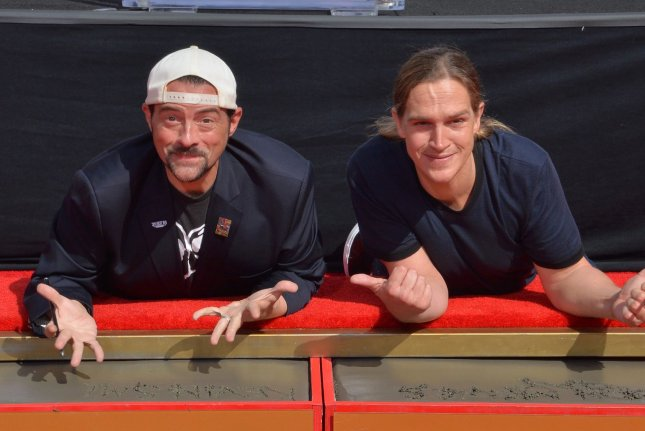 Kevin Smith and Jason Mewes' indie comedy Clerks was included on the National Film Registry Wednesday. File Photo by Jim Ruymen/UPI