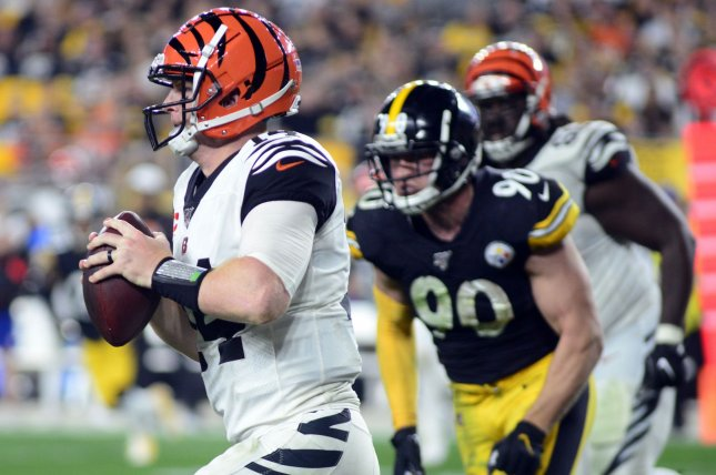 Cincinnati Bengals quarterback Andy Dalton threw a career-low 16 touchdown passes in 2019. File Photo by Archie Carpenter/UPI