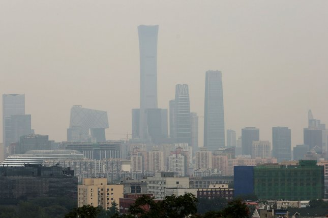 Beijing, like many other major world cities, experienced slight improvements in air quality as a result of the lockdowns necessitated by the COVID-19 pandemic. File Photo by Stephen Shaver/UPI