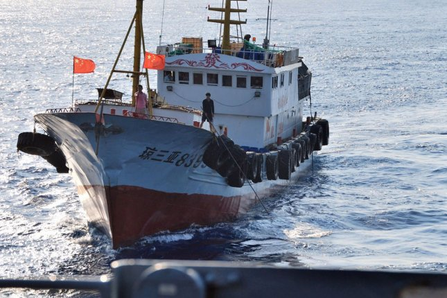 A 290-ton Chinese fishing trawler was detained after suspected illegal operations in North Korean waters, South Korea's Ministry of Maritime Affairs and Fisheries said Monday. File Photo courtesy of U.S. Navy/UPI Photo