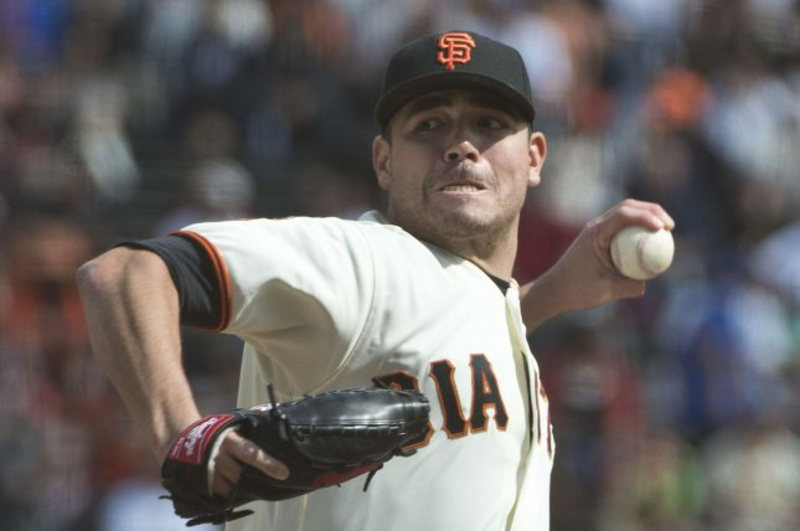 San Francisco Giants starting pitcher Matt Moore throws a pitch. File photo by Terry Schmitt/UPI