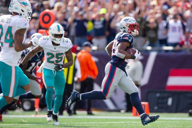 Miami Dolphins cornerback Xavien Howard (25) tied for the NFL lead with seven interceptions last season. File Photo by Matthew Healey/UPI