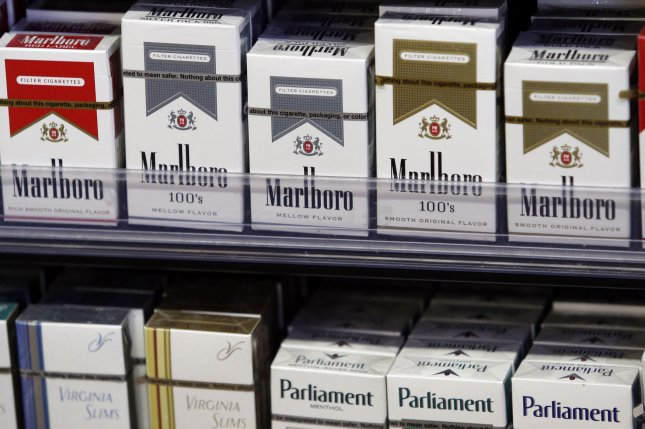 Shares of major tobacco companies fell on Monday amid reports that the Biden administration is weighing legislation to ban menthol cigarettes and reduce nicotine levels.File photo by John Angelillo/UPI
