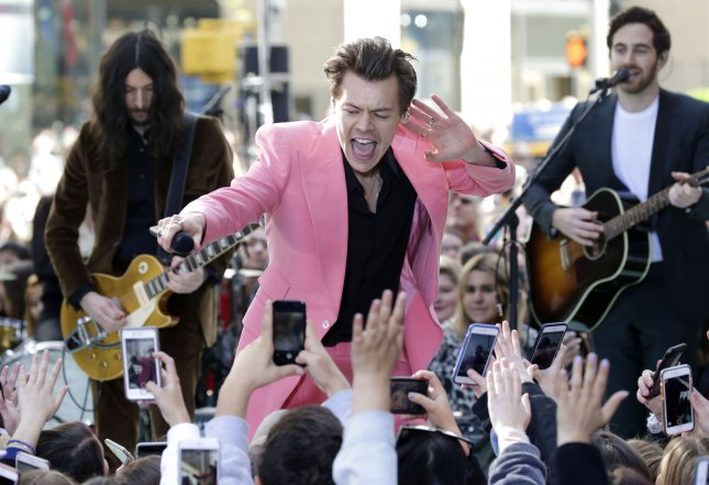 Harry Styles performs on the NBC Today Show at Rockefeller Center in New York City on May 9, 2017. Styles announced 56 new worldwide tour dates in 2018 following the successful sales for his fall solo world tour.
