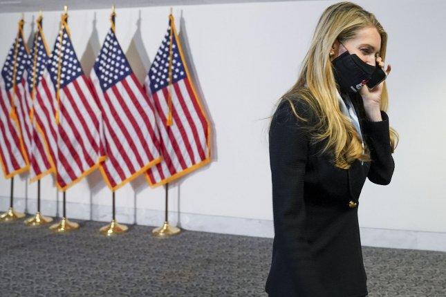 Sen. Kelly Loeffler, R-Ga., tested positive for COVID-19 on Saturday and was quarantining while awaiting additional results as her spokesman said subsequent tests were inconclusive. File Photo by Leigh Vogel/UPI