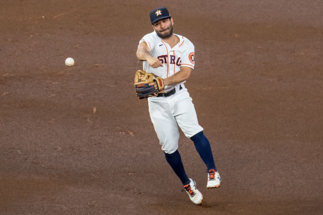 Entering Wednesday, Houston infielder Jose Altuve and the Astros have dropped four games in a row after a 6-1 start to the season. File Photo by Trask Smith/UPI