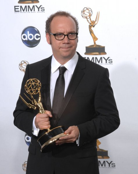 Actor Paul Giamatti appears backstage with his Emmy at the 60th Primetime Emmy Awards at the Nokia Center in Los Angeles on September 21, 2008. (UPI Photo/Scott Harms)