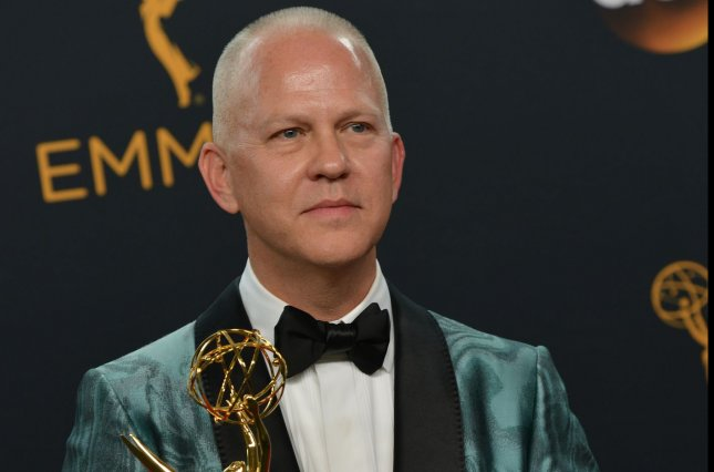 Producer Ryan Murphy appears backstage with his award for Outstanding Limited Series for The People vs. OJ Simpson, during the 68th annual Primetime Emmy Awards in Los Angeles on September 18, 2016. File Photo by Christine Chew/UPI