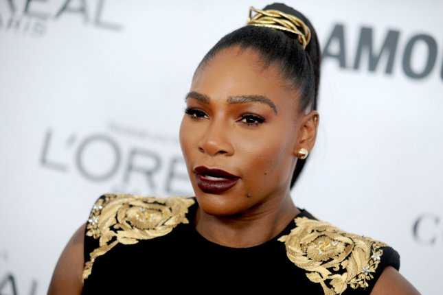 Serena Williams arrives on the red carpet at Glamour's 2017 Women of The Year Awards at Kings Theatre on November 13 in New York City. Photo by Dennis Van Tine/UPI