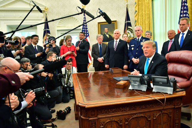 President Donald J. Trump signed a directive to establish a Space Force on February 19, 2019. File Photo by Kevin Dietsch/UPI