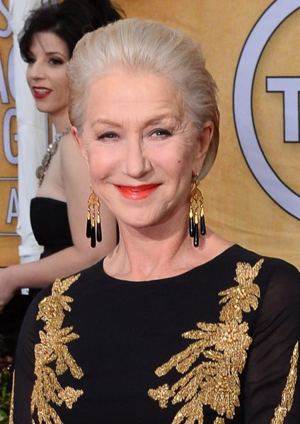 Actress Helen Mirren arrives for the 20th annual SAG Awards held at the Shrine Auditorium in Los Angeles on Jan. 18, 2014. UPI/Jim Ruymen