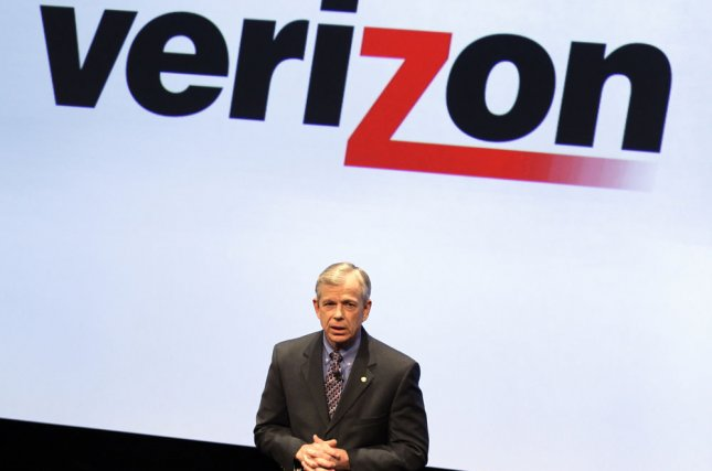 Verizon president and CEO Lowell McAdam speaks at Verizon's iPhone 4 launch event in New York in January 2011. Verizon announced Tuesday it is buying AOL for $4.4 billion. FIle Photo by John Angelillo/UPI.