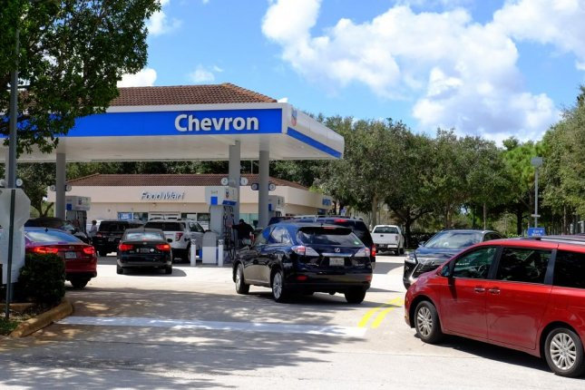 U.S. gas prices move steadily higher amid gains in crude oil prices and a general increase in demand, AAA reports. File photo by Gary I Rothstein/UPI.