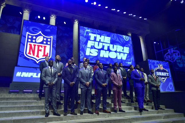 Future prospects are introduced prior to the 2017 NFL Draft at the NFL Draft Theater in Philadelphia, PA on April 27, 2017. Photo by Derik Hamilton/UPI