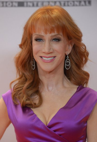 Kathy Griffin said it's been devastating to watch her mother, Maggie Griffin, suffer from to dementia. File Photo by Jim Ruymen/UPI