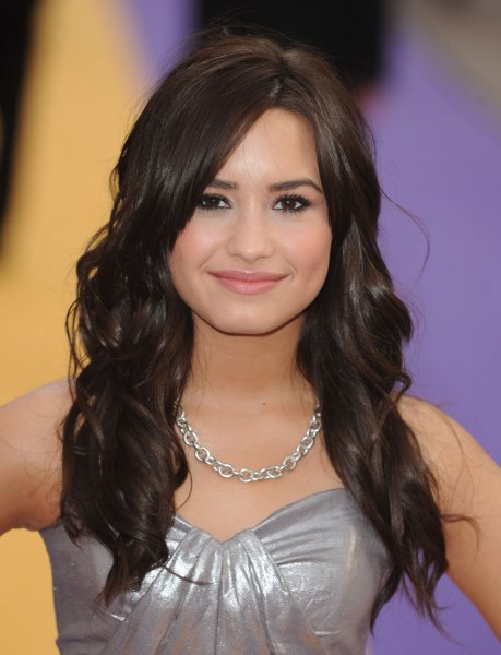 American singer/actress Demi Lovato attends the premiere of Hannah Montana at Odeon, Leicester Square in London on April 23, 2009. (UPI Photo/Rune Hellestad)