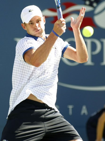 Andy Roddick, shown during this year's U.S. Open, on Monday returned to the Top 10 of men's tennis. UPI Photo/Monika Graff...