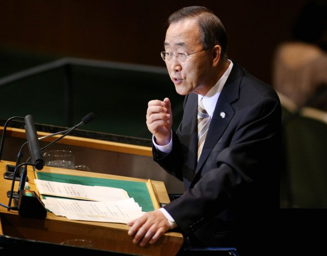 UN Secretary General Ban Ki-moon speaks at the 65th session of the United Nations General Assembly at the UN on September 23, 2010 in New York. UPI/Monika Graff