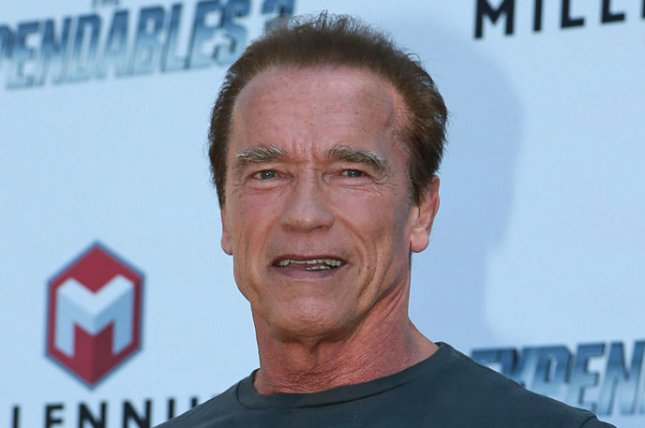 Arnold Schwarzenegger arrives at a photo call for the film The Expendables 3 during the 67th annual Cannes International Film Festival in Cannes, France on May 18, 2014. UPI/David Silpa