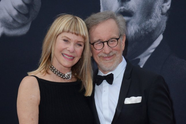 Director Steven Spielberg and his wife, actress Kate Capshaw, attend American Film Institute's 44th Life Achievement Award gala tribute to composer John Williams in Los Angeles on June 9, 2016. The famous director is working on a new movie about the Pentagon Papers called The Post. File Photo by Jim Ruymen/UPI