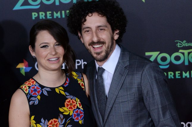 Katie Lowes and her husband Adam Shapiro are joining the cast of Broadway's Waitress next week. File Photo by Jim Ruymen/UPI