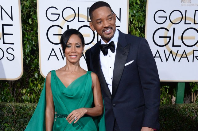 Will Smith (R), pictured with Jada Pinkett Smith, marked a milestone with the actress Wednesday. File Photo by Jim Ruymen/UPI