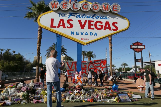 At least two exhibits will mark the one-year anniversary of the Las Vegas mass shooting, including one featuring the thousands of items left behind at public memorials. File Photo by Ronda Churchill/UPI