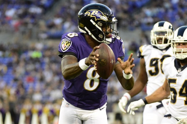 05ab56c1241 Baltimore Ravens quarterback Lamar Jackson is expected to start for a  second time during Sunday's game against the Oakland Raiders. Photo by David  Tulis/UPI ...
