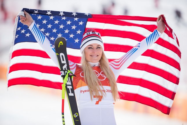 Lindsey Vonn of the United States has endured knee pain lately, which almost forced her retirement this week. Photo by Matthew Healey/UPI