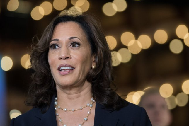 Sen. Kamala Harris, D-Calif., proposed a $60 billion plan to fund STEM-related education at historically black colleges. Photo by Kevin Dietsch/UPI