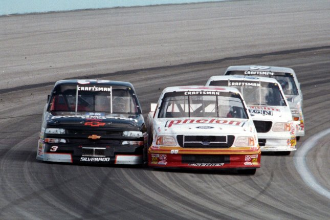 Mike Stefanik (R) was the winningest driver in the history of the NASCAR Whelen Modified Tour. File Photo by Michael Bush/UPI