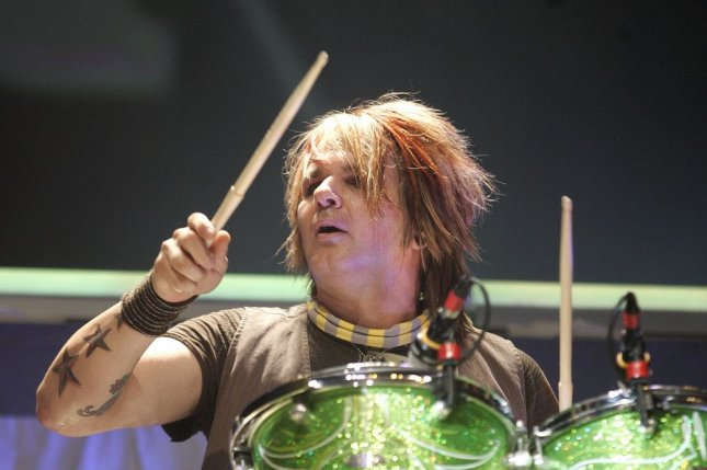Rikki Rockett with Poison performs in concert at the Sound Advice Amphitheatre in West Palm Beach, Fla. on September 1, 2007. The rockstar has now confirmed that he cancer-free. File Photo by Michael Bush/UPI