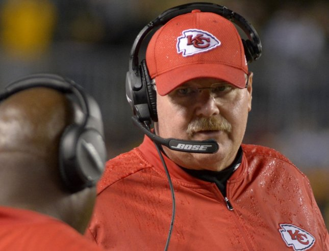 Kansas City Chiefs coach Andy Reid is aiming to get his team back in championship contention. Photo by Archie Carpenter/UPI