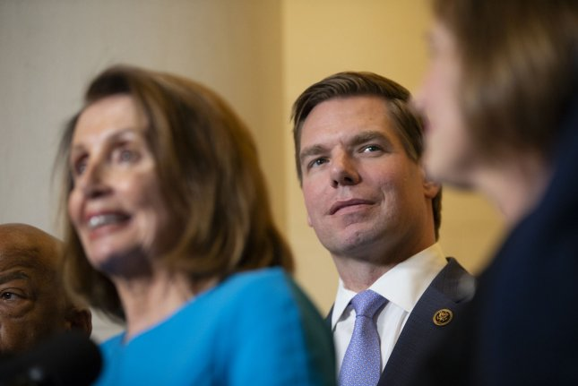 Rep. Eric Swalwell, D-Calif., is in his fourth term in the House of Representatives. File Photo by Alex Edelman/UPI