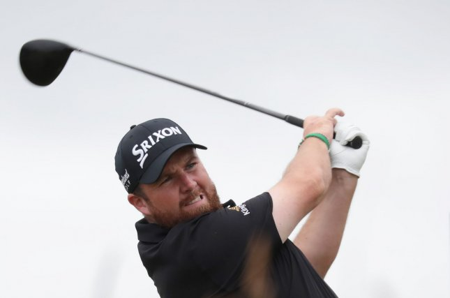 Shane Lowry has never won a major but ended Friday atop the British Open leaderboard. Photo by Hugo Philpott/UPI