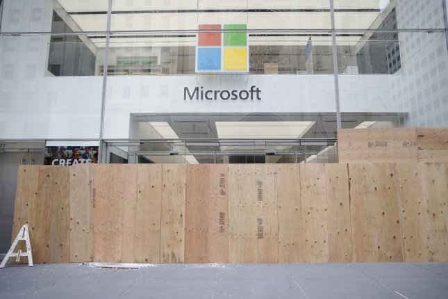 Microsoft announced a worldwide service interruption in its Microsoft 365 services Monday night, which knocked out email, video calls and cloud storage for users. File Photo by John Angelillo/UPI