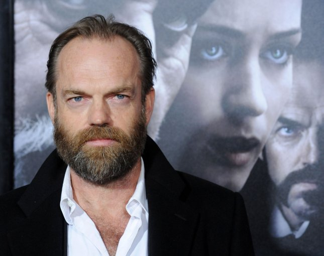 Actor Hugo Weaving, a cast member in the motion picture horror thriller The Wolfman, arrives for the premiere of the film at the Arclight Cinerama Dome in the Hollywood section of Los Angeles on February 9, 2010. UPI/Jim Ruymen