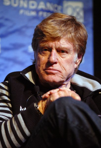 Robert Redford, founder of the Sundance Film Festival, speaks at a press conference on the opening day of the festival at the Egyptian Theater in Park City, Utah on January 17, 2008. (UPI Photo/Alexis C. Glenn)