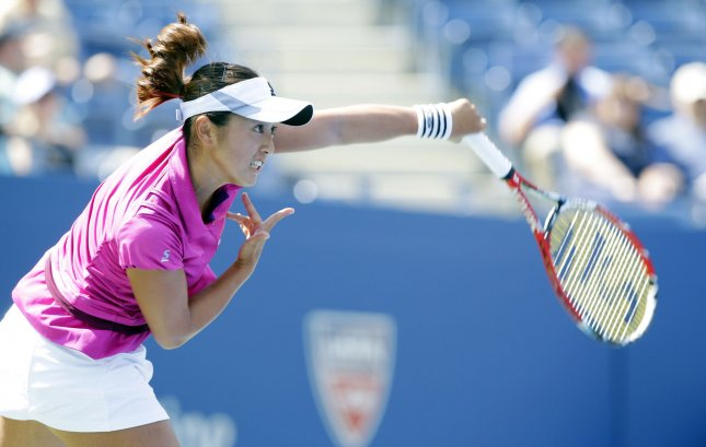 Misaki Doi, shown at the 2013 U.S. Open, defeated countrywoman Kimiko Date-Krumm in a second-round match Thursday at the HP Japan Women's Open Tennis tournament. UPI/John Angelillo