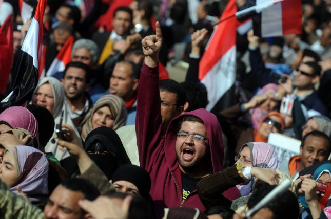 Egyptian anti-government protesters gather in Cairo's Tahrir square in Egypt on February 8, 2011 on the 15th day of protests against the regime of President Hosni Mubarak. UPI