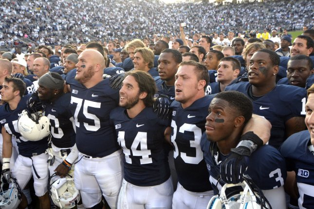 63daad823 Penn State football will change their uniforms and revert to a tradition by removing  names from the back of jerseys. File photo Archie Carpenter UPI ...