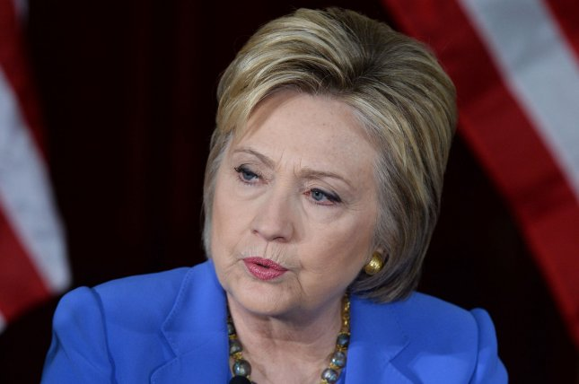 Former Secretary of State and Democratic presidential hopeful Hillary Clinton takes part in a roundtable discussion on homeland security at the University of Southern California in Los Angeles on March 24, 2016. In a speech Monday at the University of Wisconsin, Clinton is expected to pressure the U.S. Senate to hold hearings on Merrick Garland, President Barack Obama's nominee to fill the vacancy on the Supreme Court. Photo by Jim Ruymen/UPI