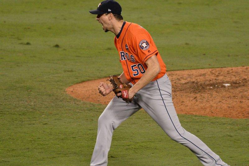 Houston Astros pitcher Charlie Morton. File photo by Jim Ruymen/UPI