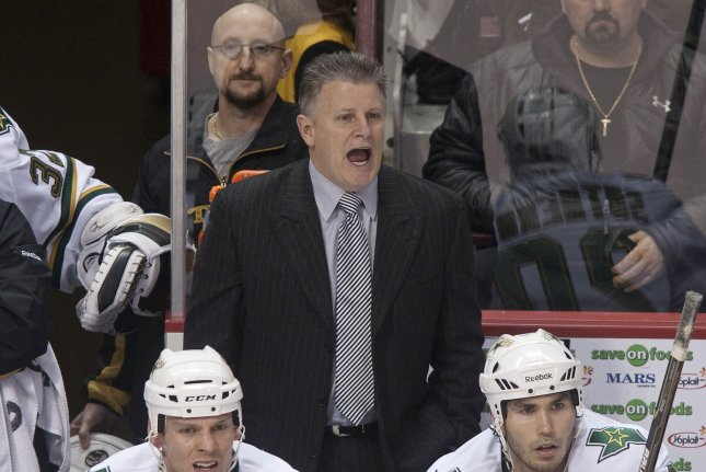 Former Dallas Stars head coach and current Chicago Blackhawks assistant coach Marc Crawford will resume his coaching duties with the club on Jan. 2. File Photo by Heinz Ruckemann/UPI