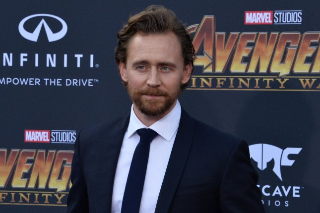 Tom Hiddleston discussed the Marvel and Simpsons crossover that he stars in and his Loki series on The Tonight Show. File Photo by Jim Ruymen/UPI.
