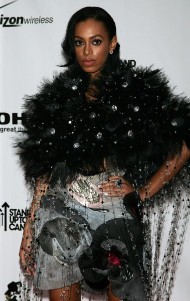 Solange Knowles arrives at the Conde Nast Media Group Fifth Anniversary of Fashion Rocks at Radio City Music Hall in New York on September 5, 2008. (UPI Photo/Laura Cavanaugh)