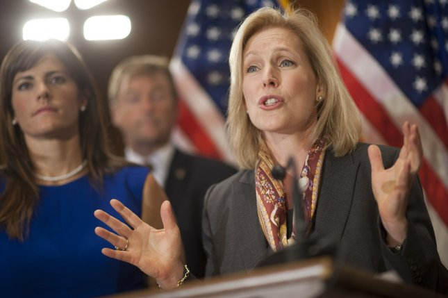 Acceptance of bullying in U.S. culture adds to military sex assault. Sen. Kirsten Gillibrand (D-NY) (right) is joined by Sarah Plummer, a former U.S. Marine and survivor of sexual assault, as she speaks at a news conference in support of the Military Justice Improvement Act on Capitol Hill in Washington, D.C. on November 19, 2013. The Military Justice Improvement Act, (MJIA) S.967, moves the decision whether to prosecute any crime punishable by one year or more in confinement to independent, trained, professional military prosecutors, with the exception of crimes that are uniquely military in nature. UPI/Kevin Dietsch