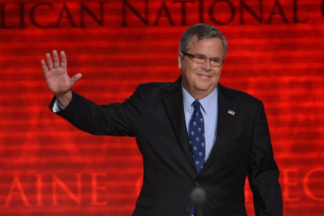 Former Florida Governor Jeb Bush speaks at the 2012 Republican National Convention. Bush said I'm thinking of running for President Wednesday. UPI/Kevin Dietsch