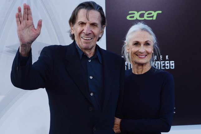 Leonard Nimoy and his wife Susan Bay attending the premiere of Star Trek Into Darkness on May 14, 2013. The first trailer for the documentary For the Love of Spock pays homage to the deceased actor. File Photo by Jim Ruymen/UPI