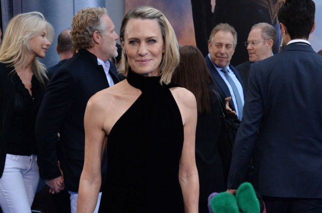 Robin Wright has bloody hands in a new teaser image for House of Cards Season 6. File Photo by Jim Ruymen/UPI